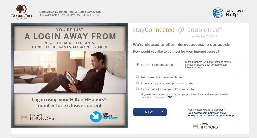 Hotel-captive-portal-wifi-login-page